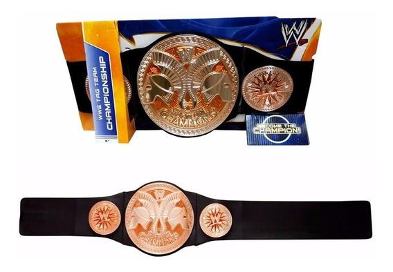Cinturon Wwe Campeon De Parejas Raw. Mattel- Minijuegos