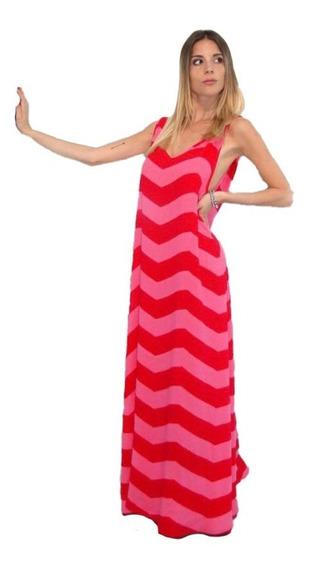 Vestido Largo Zig Zag Combinación Informal Promo Verano