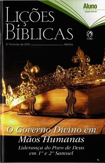 Kit Lições Bíblicas Adulto 4° Trimestre 2019 Com 10 Alunos
