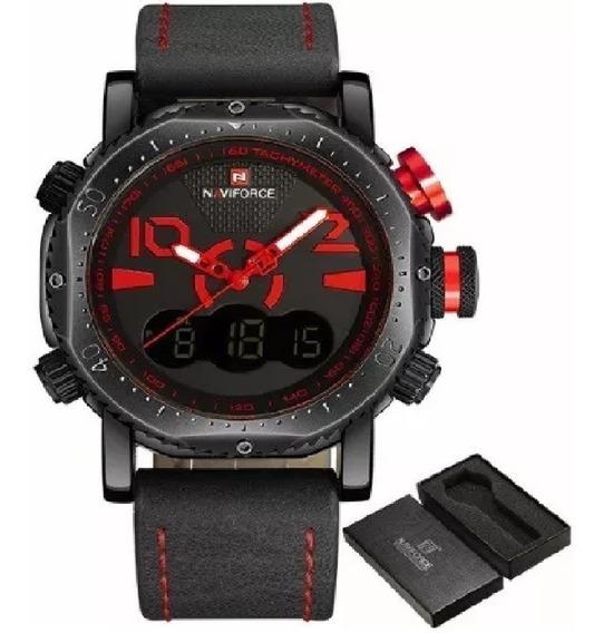 Relógio Masculino Naviforce 9094 Original Em Couro