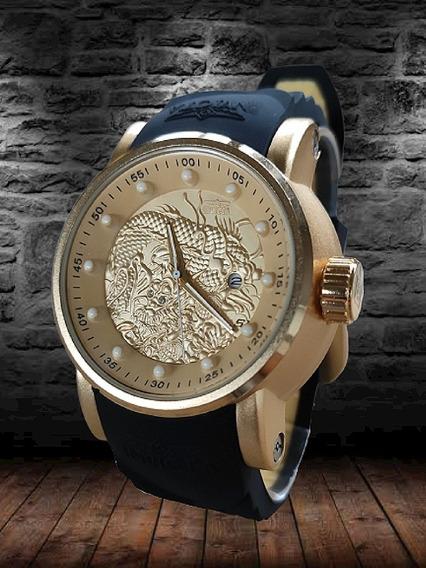 Relógio Subaqua Yakuzh Dragão Importado Super Barato!!
