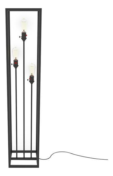 Luminária De Chão Em Aço Para 3 Lâmpadas