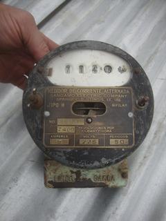 Antiguo Medidor Corriente Sangamo Electric Company E.e.u.u.
