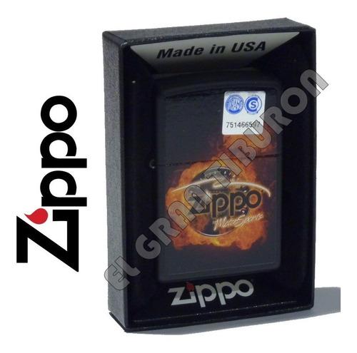 Imagen 1 de 2 de Encendedor Zippo Fuego Motorsports Made In Usa 28747