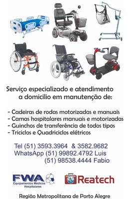 Manutenção De Cadeiras Motorizadas Camas Hosp Guinchos