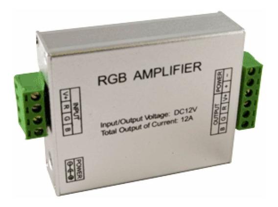 Amplificador Para Tiras De Leds Rgb Entrada12v 24v Hasta 12a