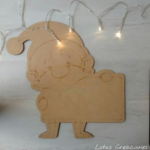Cartel Papa Noel Grande Navidad -corte Láser-