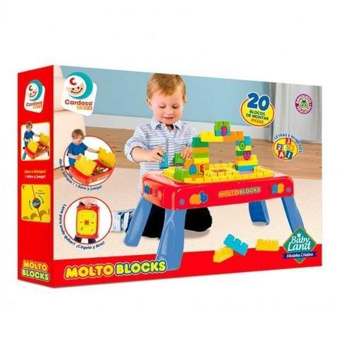 Mesa Criativa Brinquedo Educativo C/20 Blocos