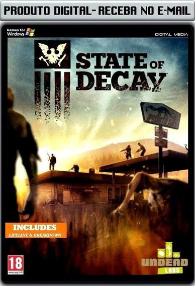 State Of Decay E Expansões - Pc - Envio Digital