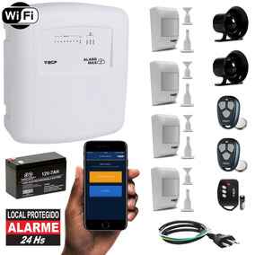 Kit Alarme Residencial Wifi App iPhone Internet 4 Sensores