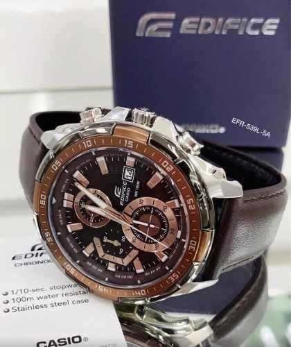 Relógio Masculino Casio Edifice Efr-539-5a Marrom Oferta Top