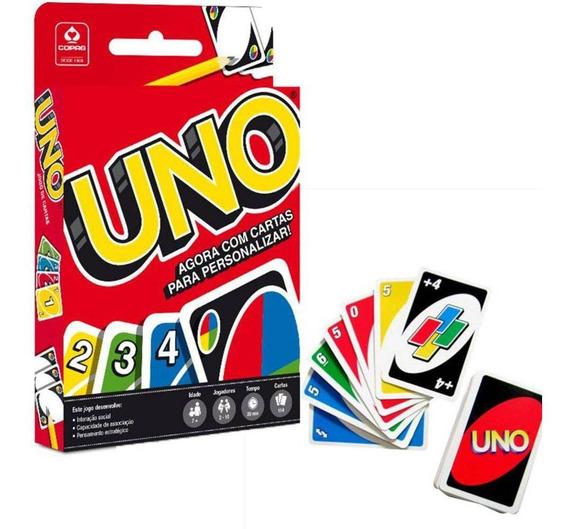 Jogo Uno Cartas Modelo Novo Personalizável Original - Copag