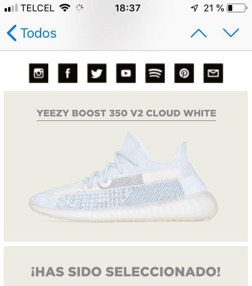 Yeezy Boost 350 V2 Cloud White - Citrin T-27, 27 Cms