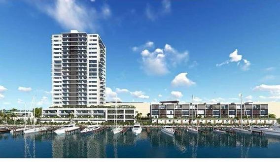 Desarrollo Marina. De Lujo En Venta Puerto Cancun. Canal Homes Tipo B. Quintana Roo