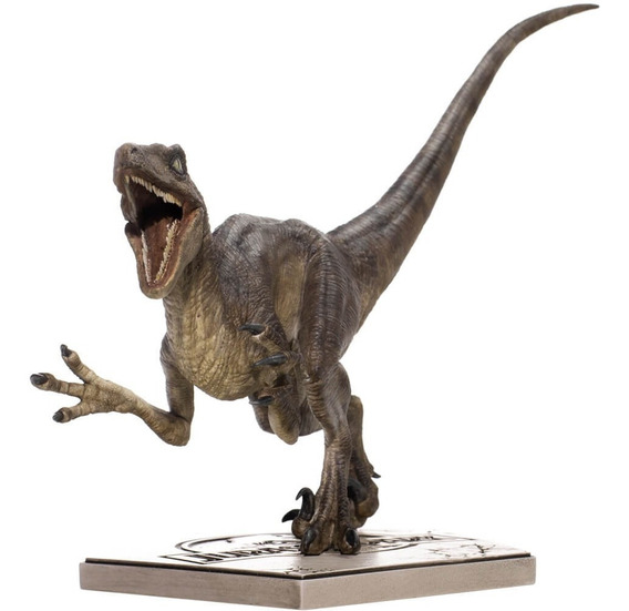 Velociraptor Attacking - 1/10 - Jurassic Park - Iron Studios