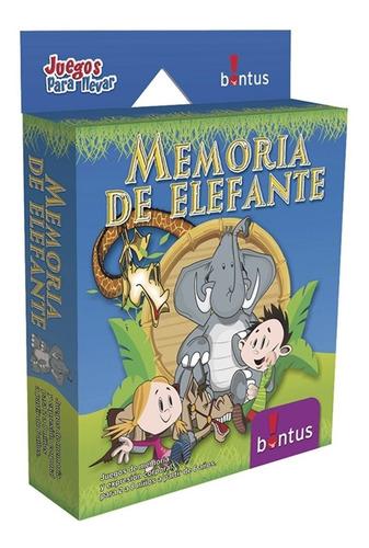 Memoria De Elefante Juego De Mesa Cartas Viaje Bontus Lelab