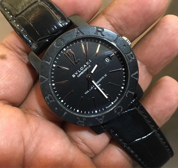 Bvlgari Carbón Gold Oro Blanco Automatic Solo Reloj 40mm
