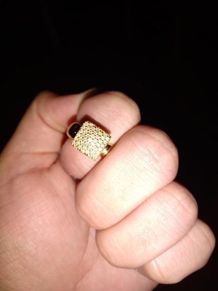 Anel Chuveiro Ouro 18k 45 Diamantes