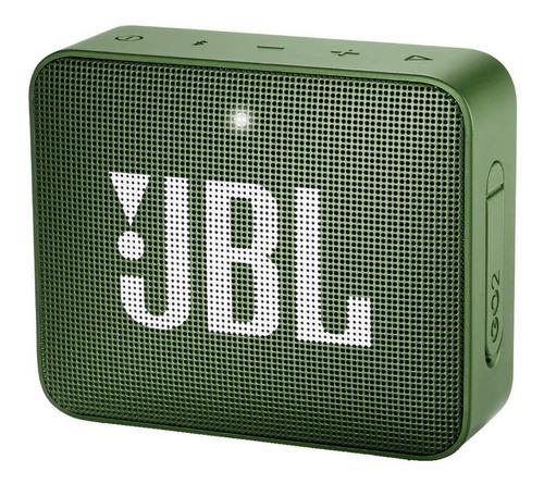 Caixa de som JBL Go 2 portátil com bluetooth  moss green