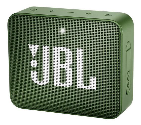 Caixa de som JBL Go 2 portátil sem fio Moss green