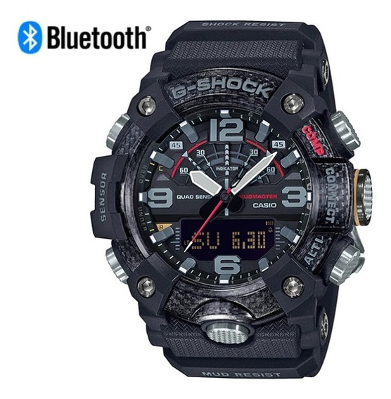 Reloj Casio G-shock Mudmaster Bluetooth Gg-b100-1a Carbono