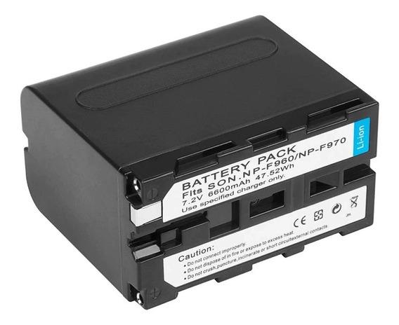 Bateria Sony Np F970 F550 F350 F330 F770 F750 F570 6600ma
