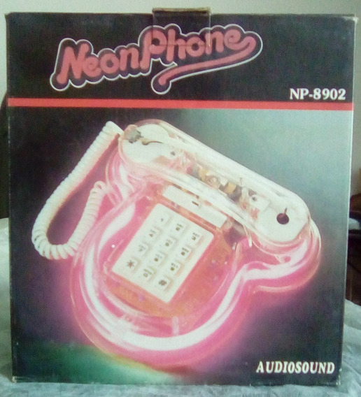 Neon Phone Telefone De Mesa - Rosa