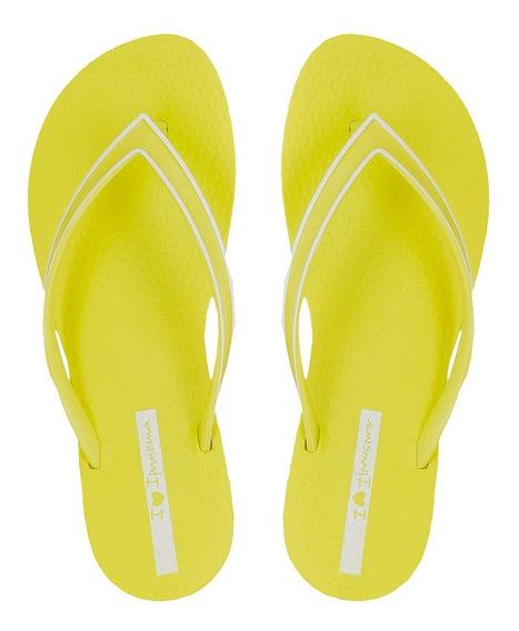 Chinelo Ipanema Wave Essencial - Amarelo Neon - Ref. 26417