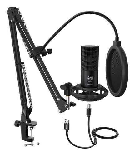 Imagen 1 de 4 de Micrófono Fifine T669 condensador  cardioide negro