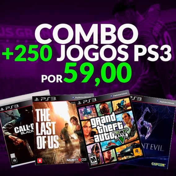 Pacote De +250 Jogos Ps3 -psn Call Of Duty Fifa Metal Gear