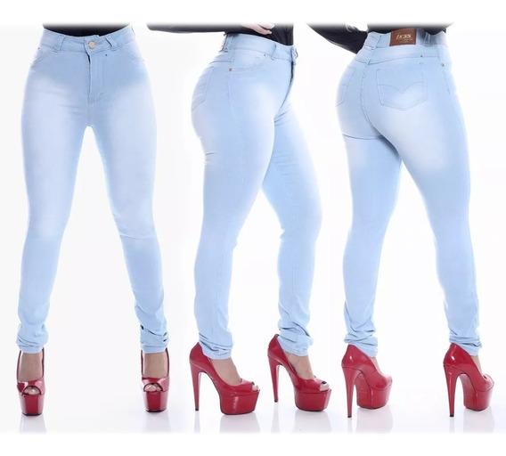 Calça Jeans Feminina Cintura Alta Vários Modelos