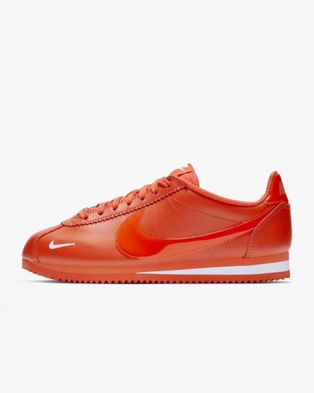 Tenis Nike Classic Cortez Prem Naranja, Original 100%