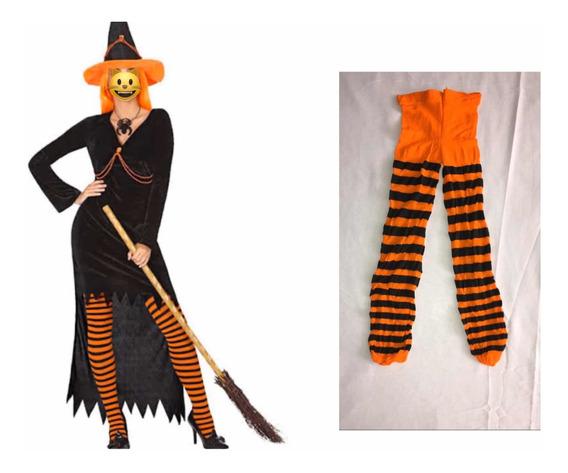 Pantimedias Rayadas Niños: Mavis, Bruja, Merlina Halloween