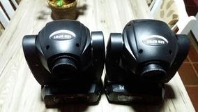 2 Moving Led 45w Com Prisma Rotativo De 3 Faces..