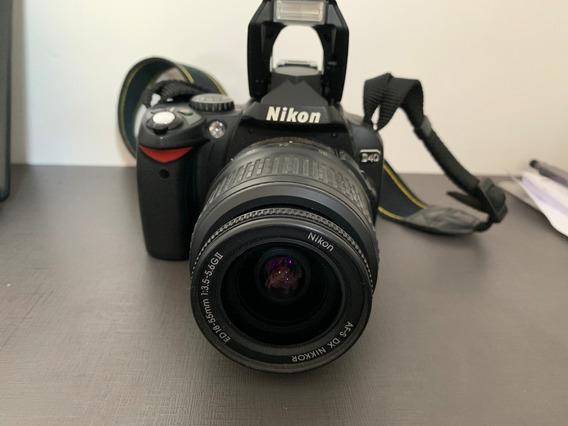 Câmera Nikon D40 Com Lente 18-55