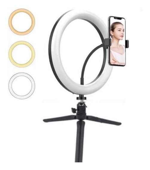 Ring Light Tripé Mesa Iluminador/ Youtuber /maquiagem