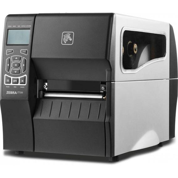 Impressora De Etiquetas Zebra Zt230 Com Rede Usb E Serial