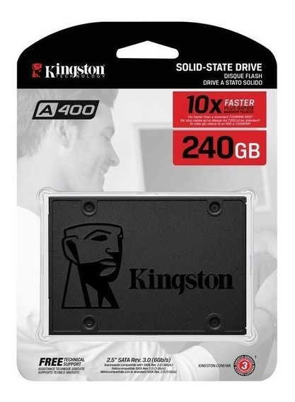 Disco Ssd Kingston 240gb A400 Estado Solido Notebook Pc