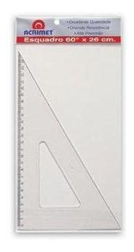 Imagem 1 de 1 de Esquadro Acrimet Escolar De 30 X 60 Graus Com 21 Cm 531.0