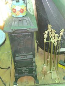 Salamandra De Ferro A Lenha Ou Carvão Fundição Antiga