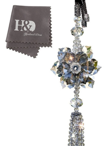 Imagen 1 de 2 de H&d Hyaline & Dora Colgante De Cristal De Hoja De Arce Colga