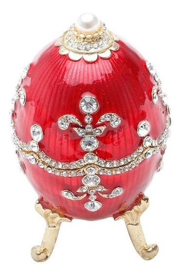 Porta-joias Zamac Ovo Faberge Royal Vermelho Royal 25656