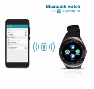 Redondo Tela Y1 Bluetooth Inteligente Relógio Esporte Passo