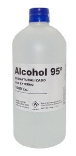 Alcohol Desnaturalizado 95º - Botella 1 Litro - Araucomed