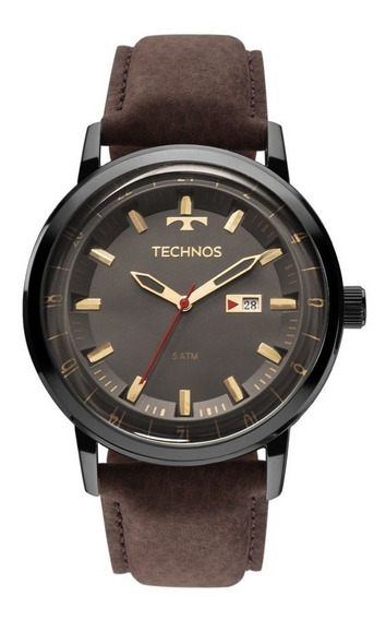 Relógio Technos Masculino 2115laq/2c Courom Marrom Original