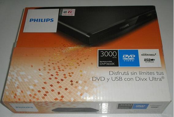 Dvd Philips Dvp3650k Divx Usb 2.0, Karaokê, Top Novo Raro