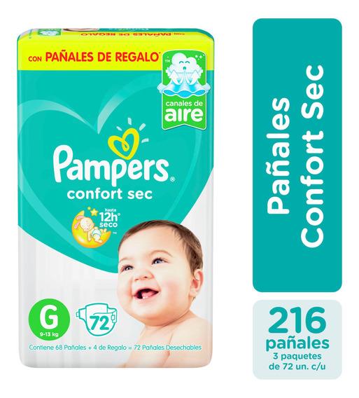 Pañales Pampers Confort Sec Todos Los Talles - Pack X3