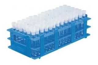 Estante Plástica Pp Para 60 Tubos De Ensaio 17 Mm