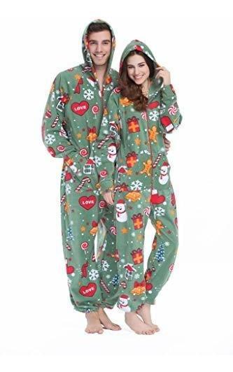 HUAZONG Pijama para hombre pijama unisex pijamas todo en una pieza con capucha para adulto estampado azteca