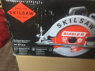 Skilsaw Spt77w-22 7-1/4 In Worm Aluminio Drive Sierra Curcul
